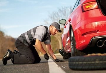 Roadside assistance service repair