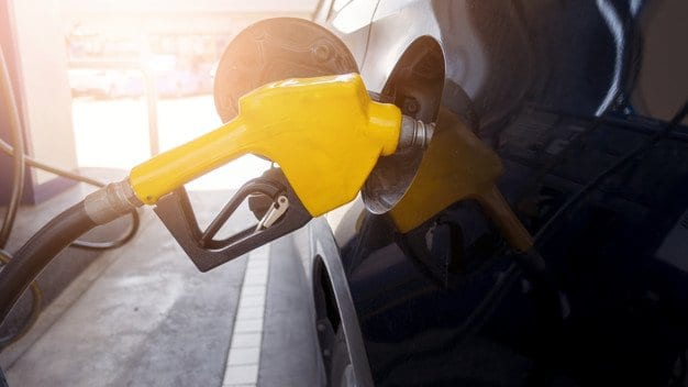 car refilling fuel in Gas Station