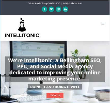 intellitonic original website home page