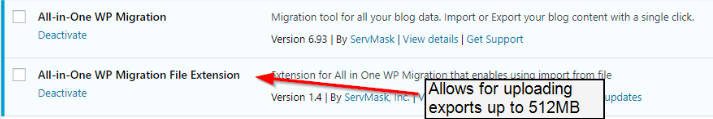 all in one wordpress migration extension