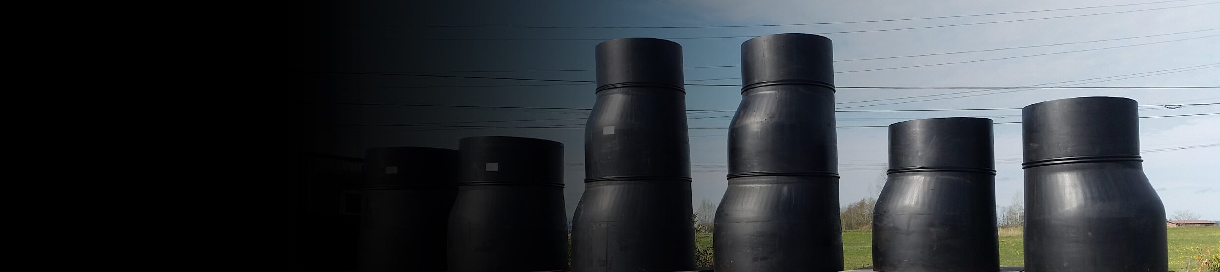 Large Swedge Reducers travelling on the back of a semi truck