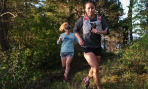 two trail runners