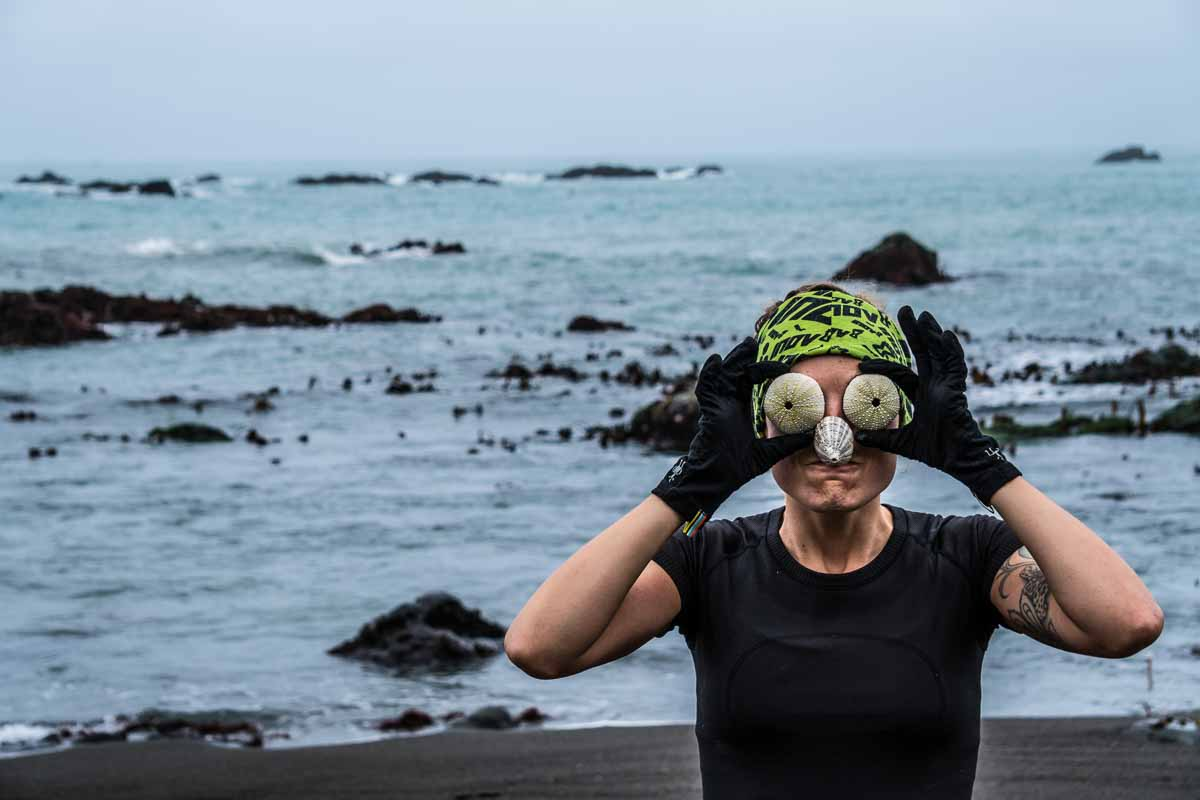 Trail running on the lost coast