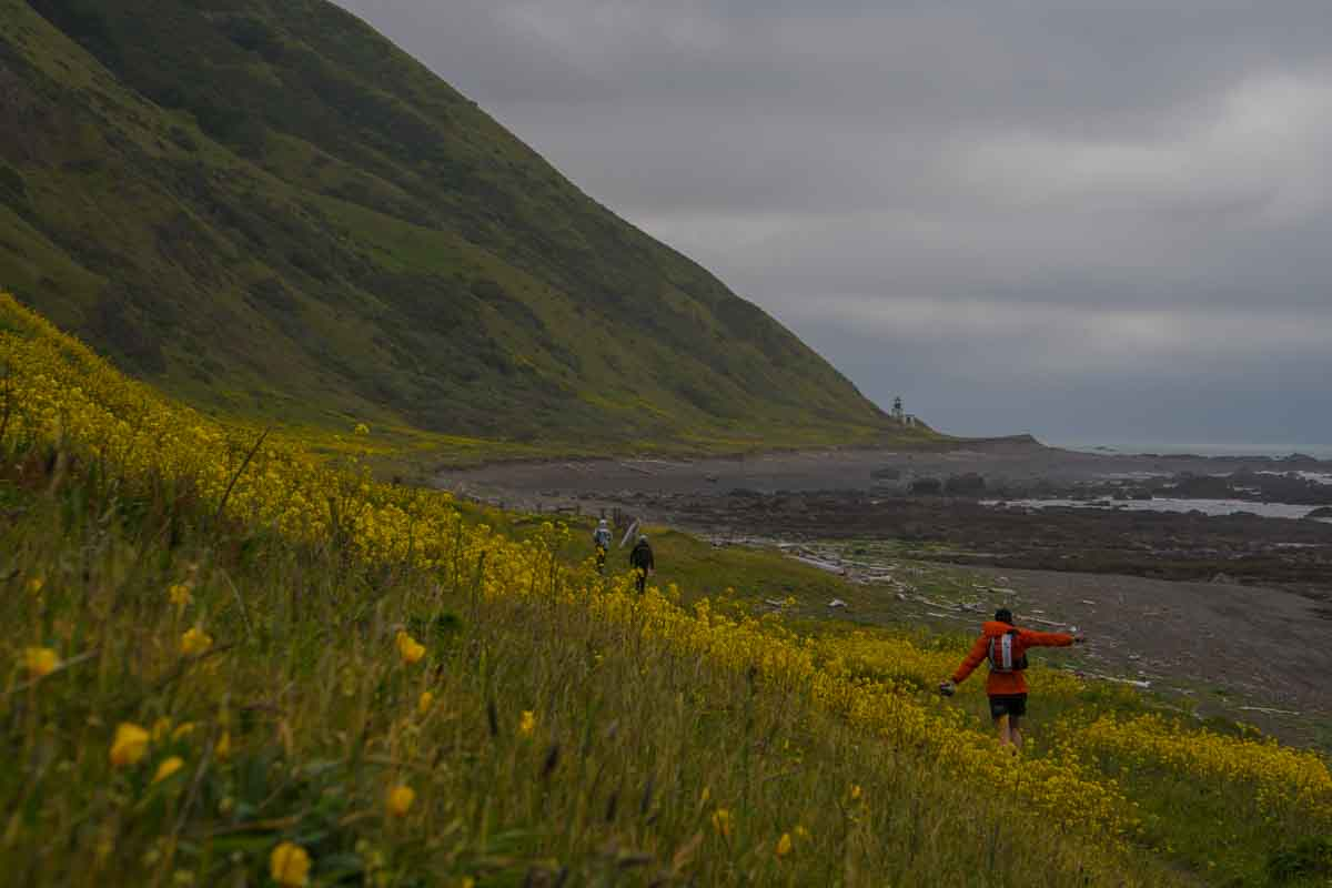 Trail running on the Lost Coast, California